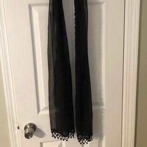 Sheer black scarf